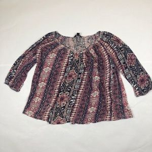 Lucky Brand Purple Blouse Womens Large
